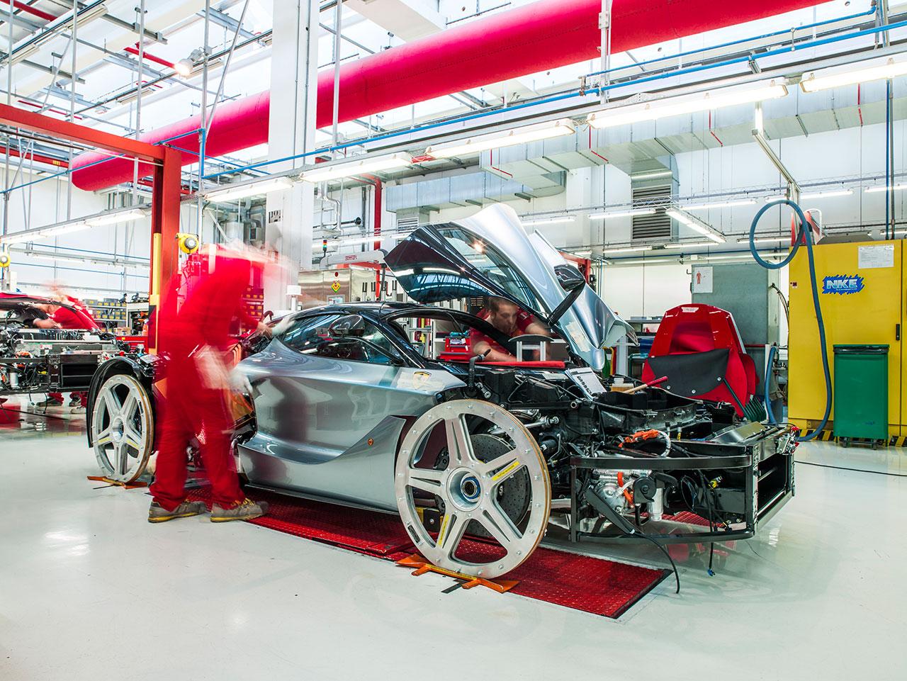 LaFerrari in production.Photo courtesy of Ferrari.