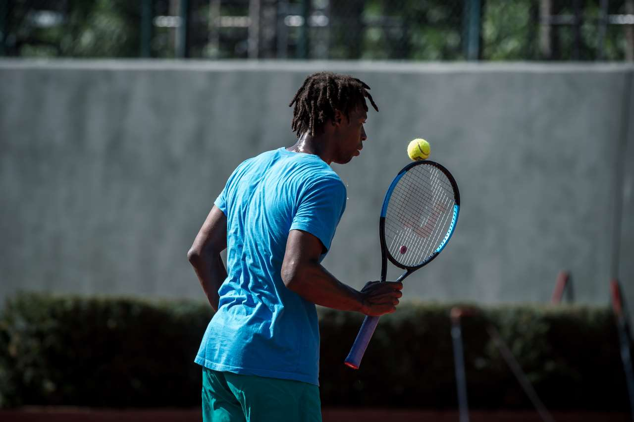 French professional tennis player Gaël Monfils training at TATOΪ Club.Photo by Elias Joidos © TATOΪ Club.