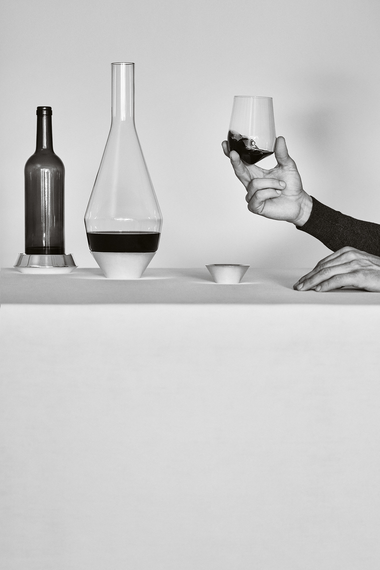 Sommelier Collection by Michael Anastassiades for Puiforcat . Photo by Daniel Riera.