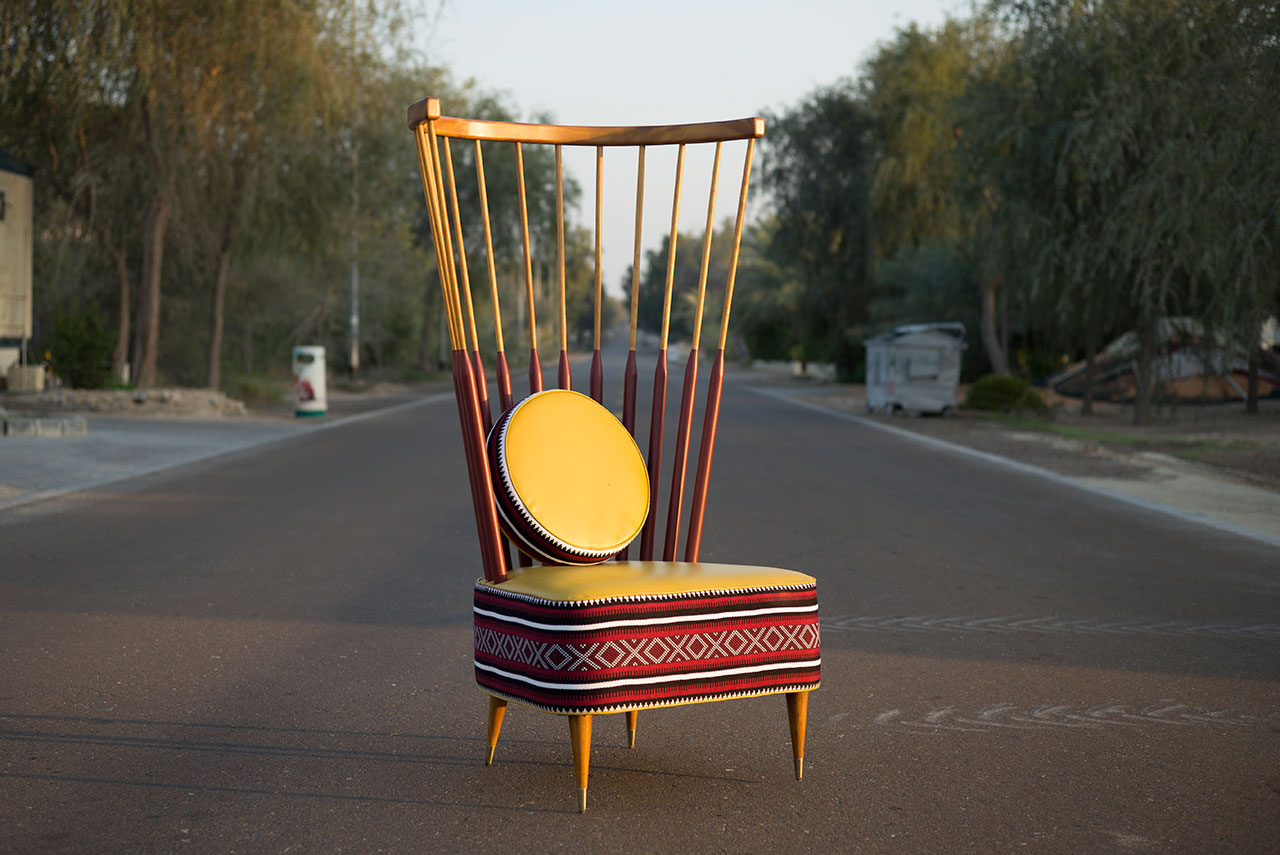 Moza chair by Studio MUJU. Photo courtesy Tashkeel and the designers.