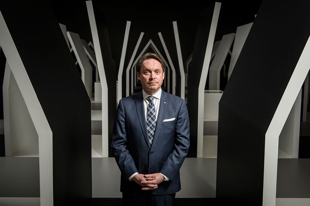 Tony Ellwood, National Gallery of Victoria Director. Photo by Eugene Hyland.