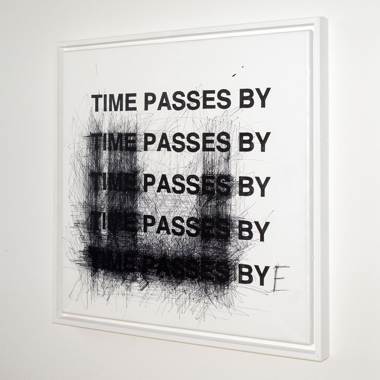 Anatol Knotek, bye, 50 cm x 50 cm, acrylic and permanent marker on canvas (framed) © 2011, private collection.