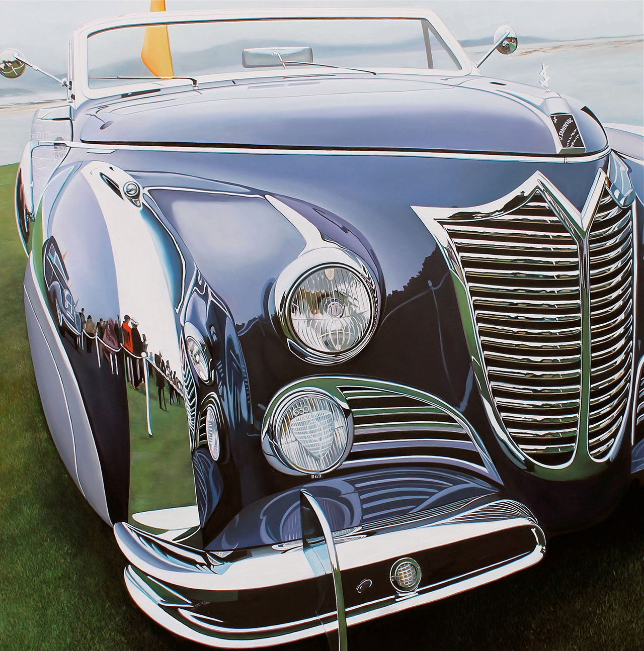 "Purple Cadillac, 2013, oil on aluminum panel, 30 x 30.5""   © Cheryl Kelley, Courtesy of Bernarducci Meisel Gallery"
