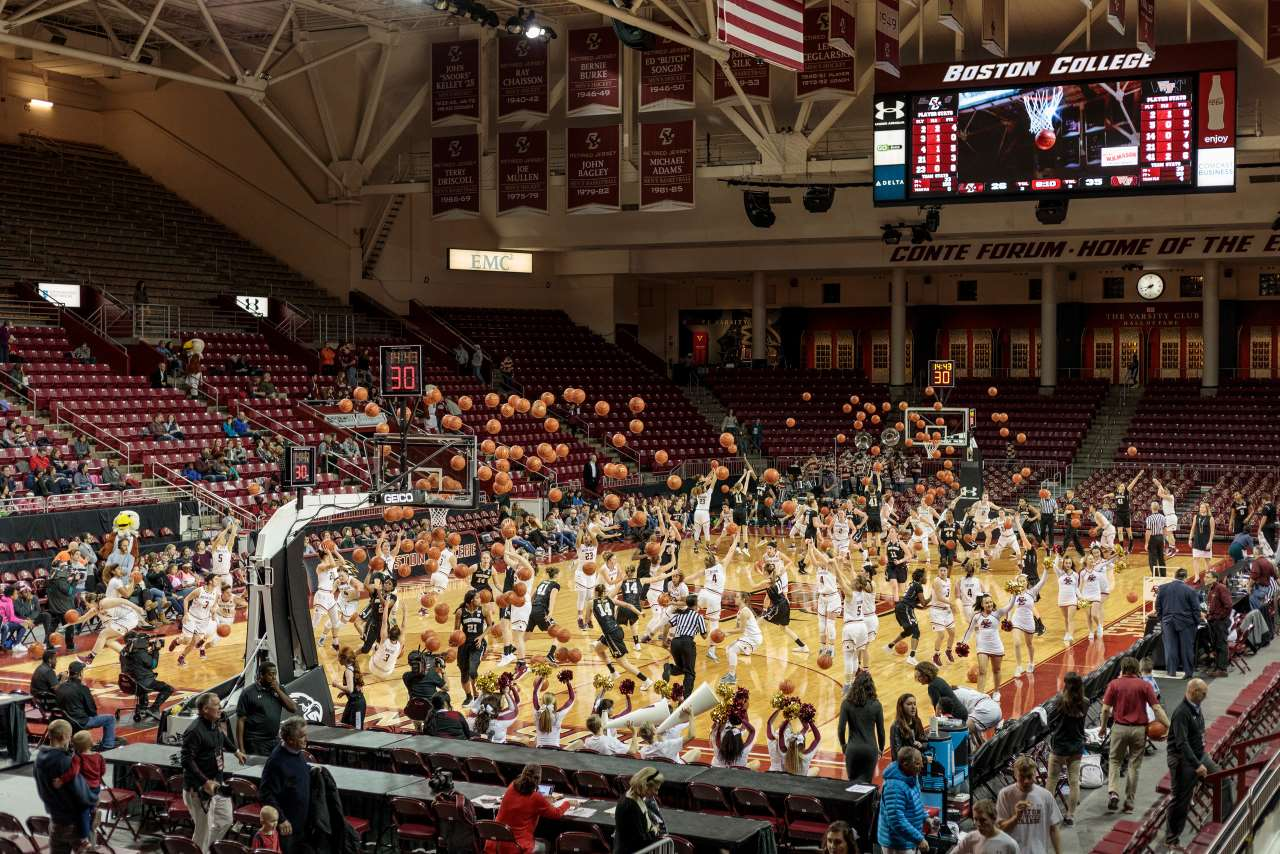 Pelle Cass, Basketball Game, Boston College from 'Crowded Field Series', 2018, Chestnut Hill, Massachusetts. © Pelle Cass.