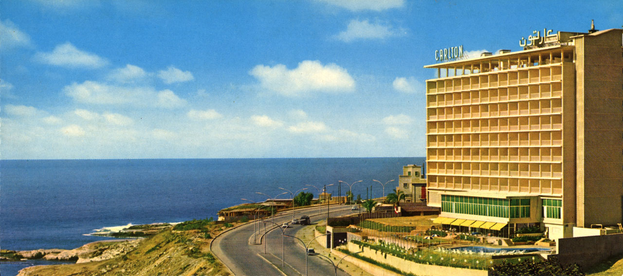 The Carlton Hotel in Beirut, built by Polish architect Karol Schayer in 1957.
