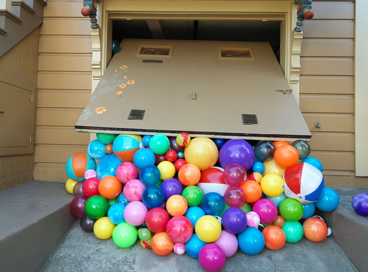 Balls, 2014; c-print, 34'' x 46''. Courtesy ofLee Materazzi.