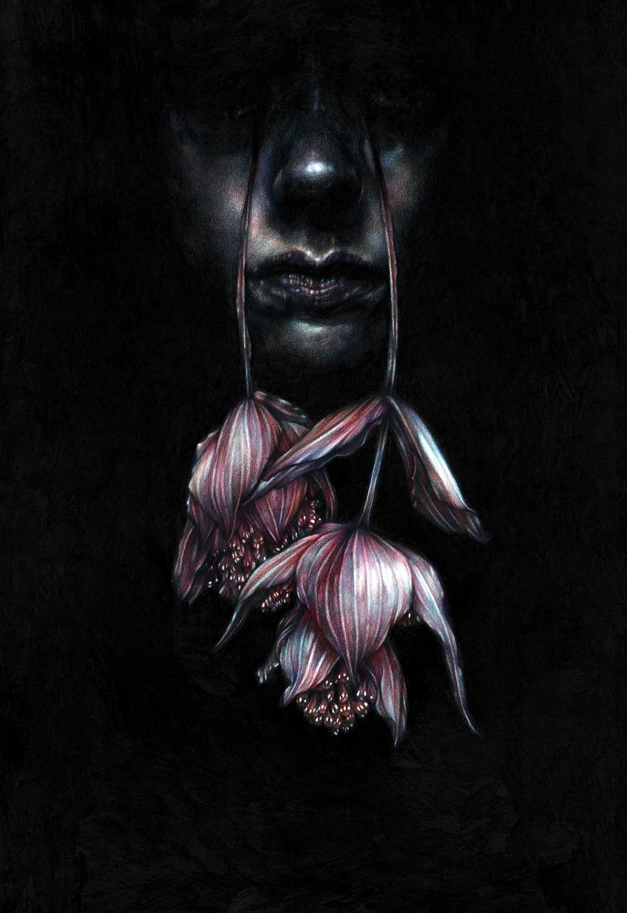 Marco Mazzoni, Tearwalker. Colored pencils on paper © Marco Mazzoni.