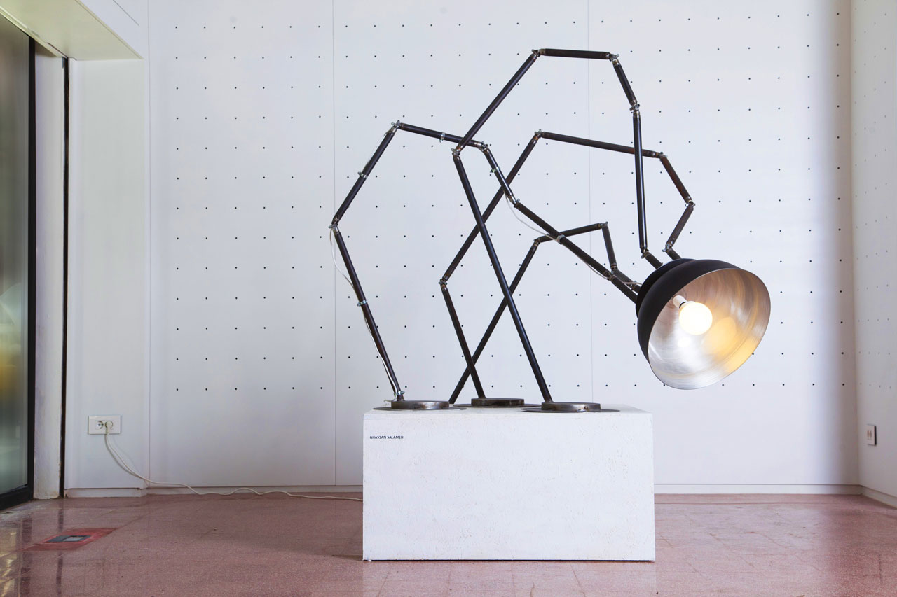 Arthropod lamp by Ghassan Salameh, 2015.