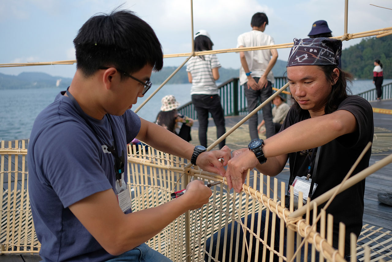 Fish Trap House workshop. Photo by Alvin Liu.