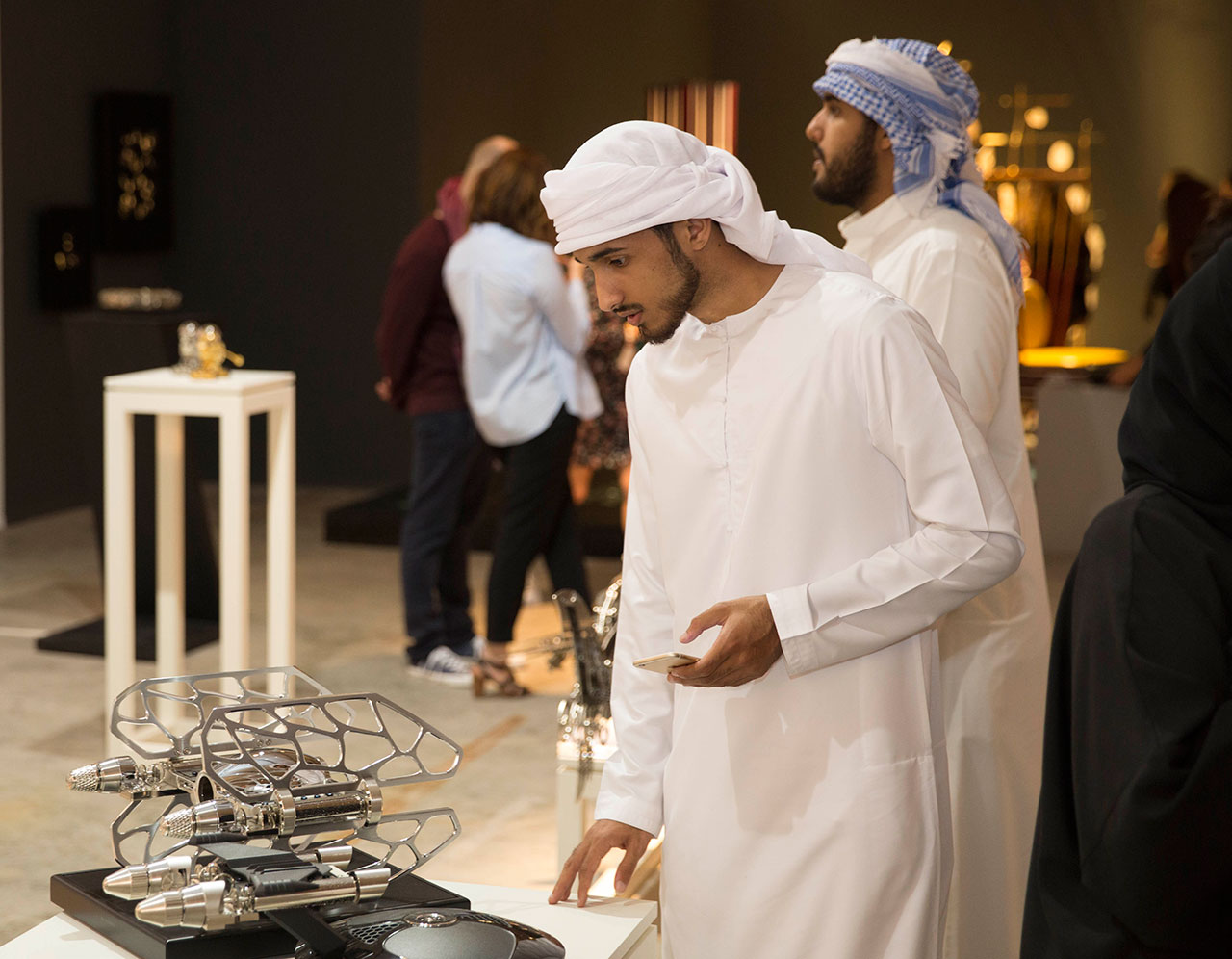 Visitors at the booth of MAD Gallery during Design Days Dubai. Photo courtesy Design Days Dubai.