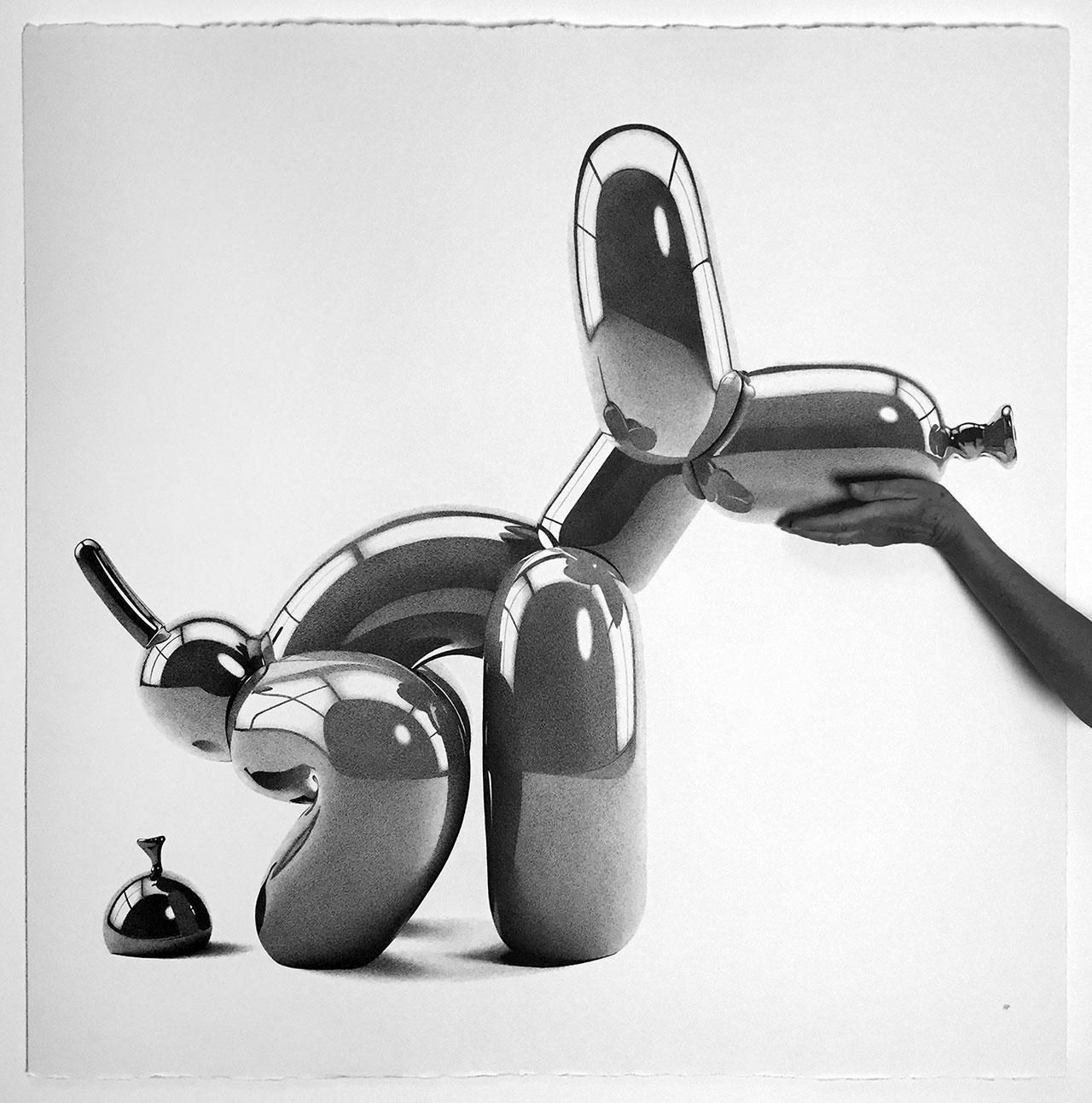 Alessandro Paglia,POOP BALLOON DOG, 100 X 100 cm.