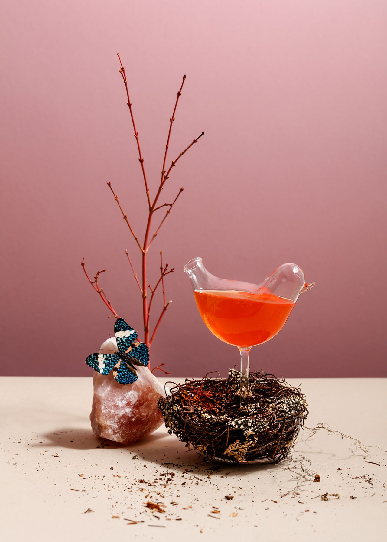 Pretty Bird Cocktail. Photo by Ian Lanterman via v2com.