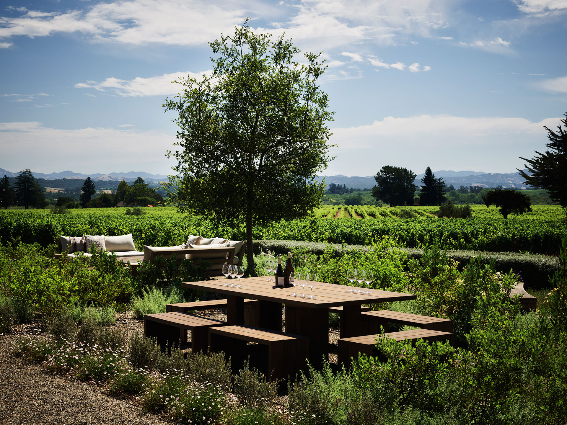 House of Flowers, Flowers Vineyard & Winery. Photography by Douglas Friedman.