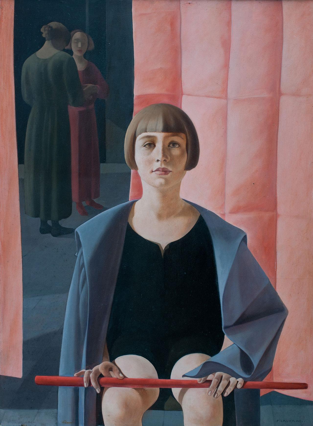 Felice Casorati, Ritratto di Renato Gualino, 1923 - 1924, oil on plywood panel 97x74,5 cm. Courtesy Istituto Matteucci, Viareggio © Felice Casorati by SIAE 2018.