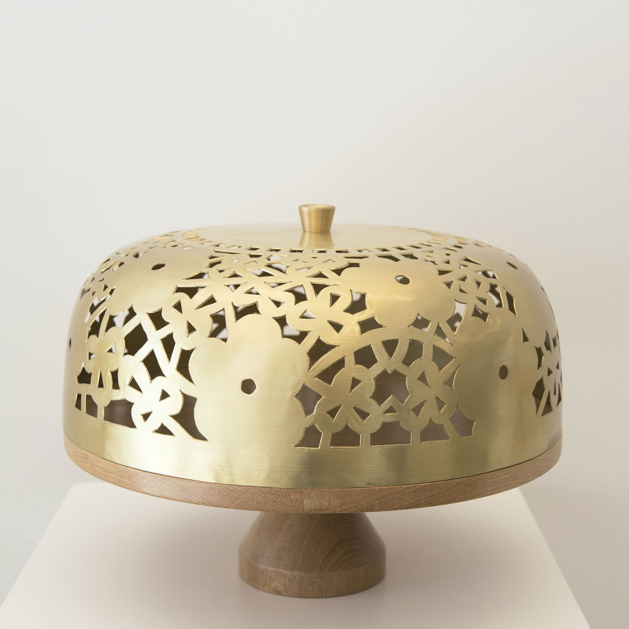 """Camille"" cake stand by Marc Dibeh. Hardcut Brass 