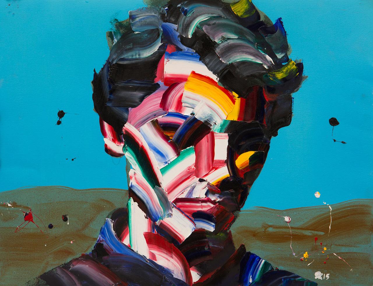 Salman Khoshroo, Palette Knife and Paint Study,Oil on paper,50x65cm.