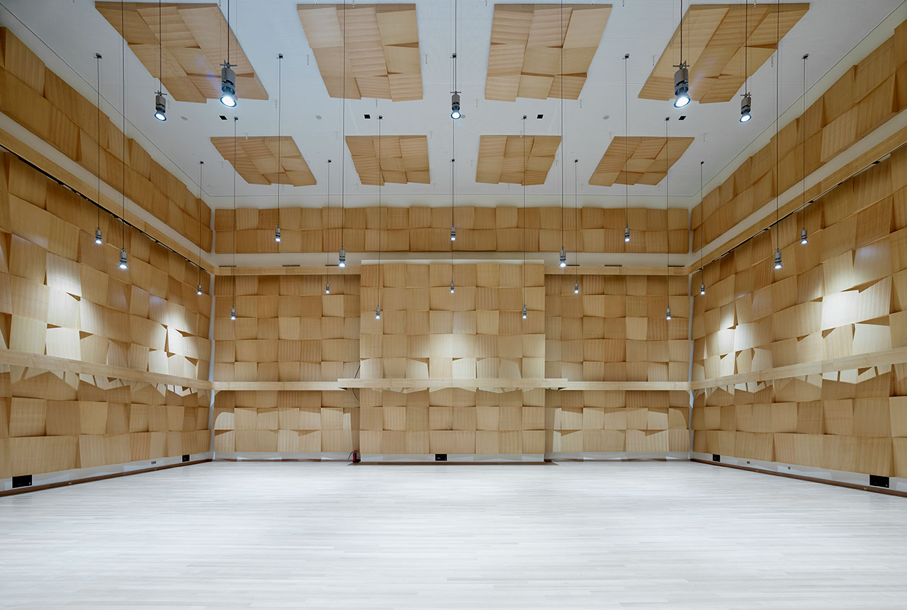 Orchestra's rehearsal room.Photo© SNFCC / Yiorgis Yerolymbos.