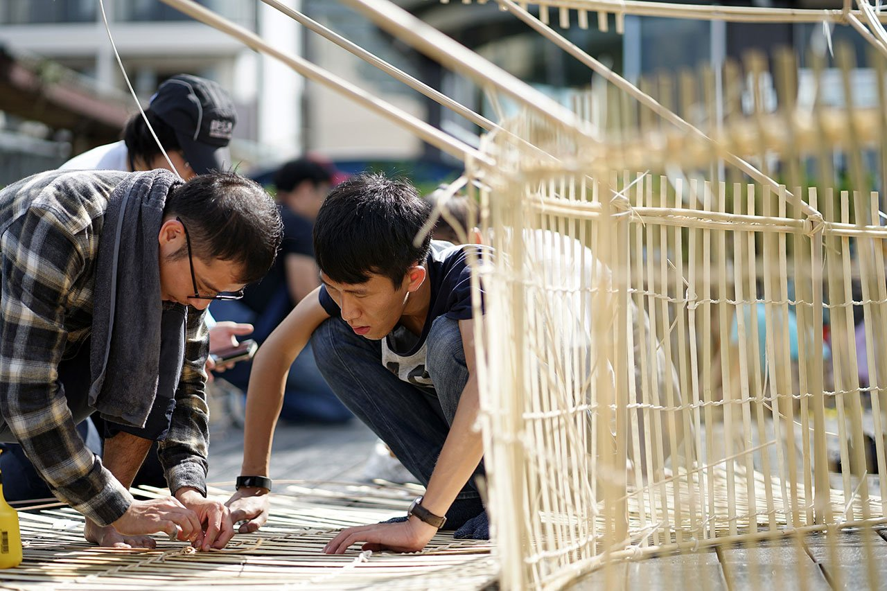 Fish Trap House workshop. Photo by Lance Wang.