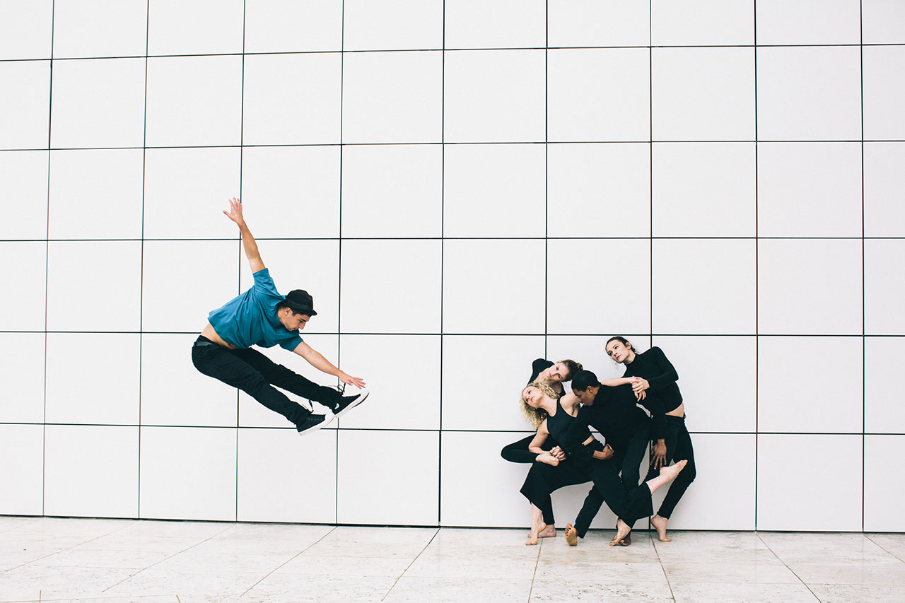Location: The Getty Museum | Dancers: Jacob Jonas, Brooklynn Reeves, Jill Wilson, Charissa Kroeger, Jeremy Julian Grandberry | Photo © Matthew Brush from the series #CamerasandDancers.