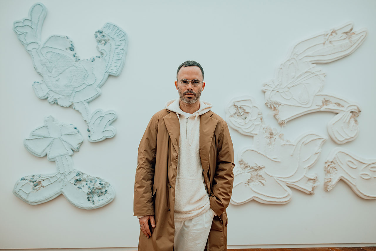 Daniel Arsham, Eroded Patches. Exhibition view at Moco Museum in Amsterdam. Photo by Isabel Janssen.