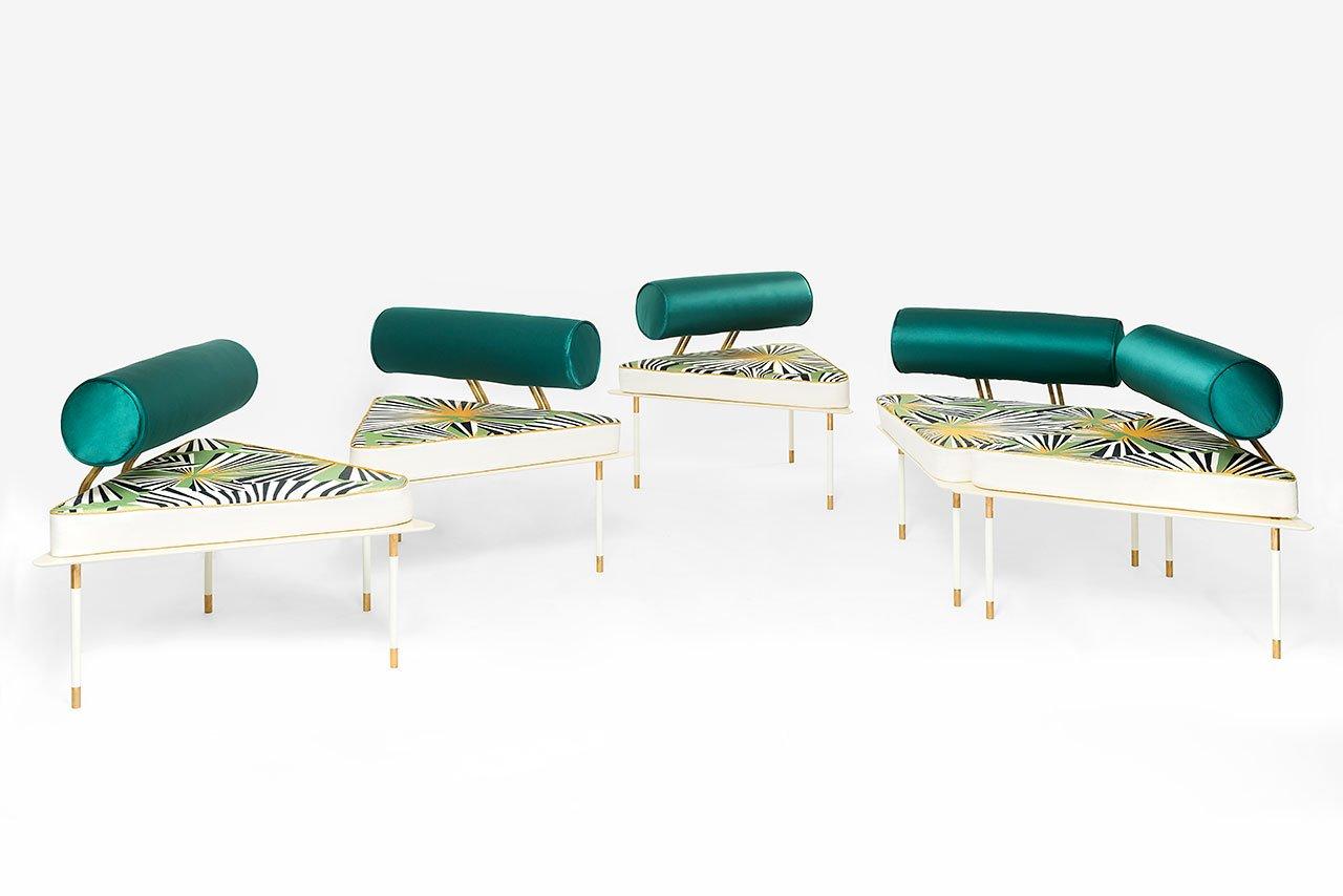 Derek Castiglioni,Aquiloni Collection,Sofa.With Seatback:96 x90 x70 cm.Without Seatback:96x84 x40 cm.