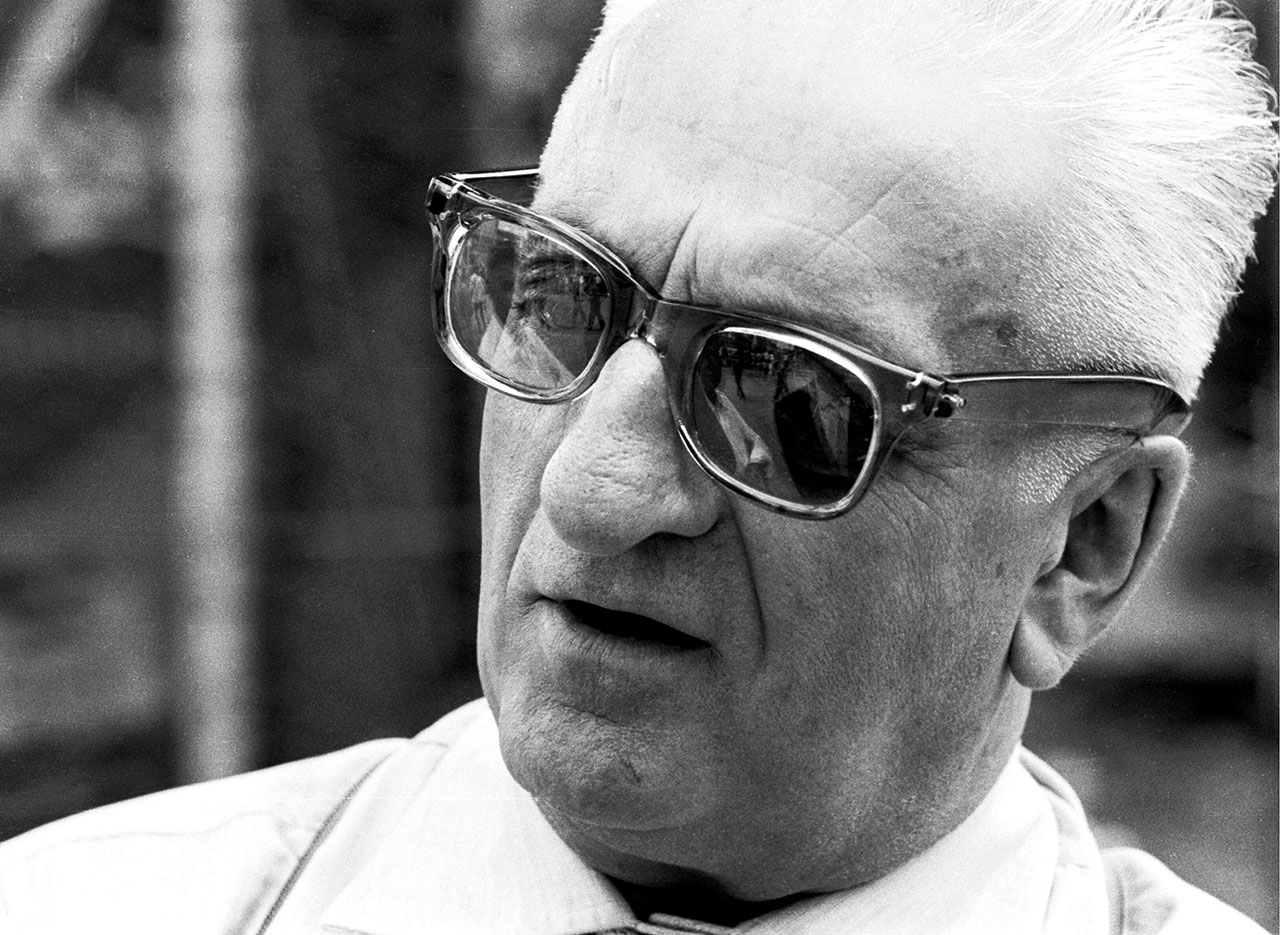 Enzo Ferrari at the Italian GP, Monza 1961. Photo courtesy of Ferrari.