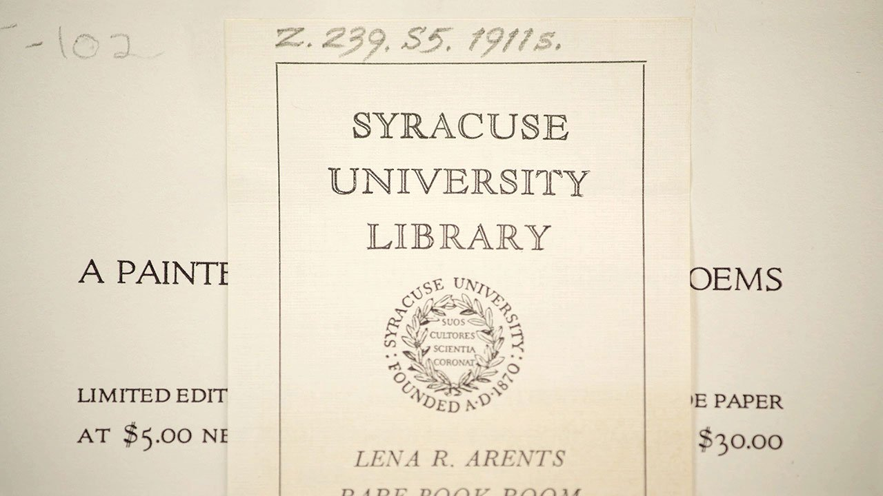 Goudy and Syracuse: The Tale of a Typeface Found video screenshot © Syracuse University.
