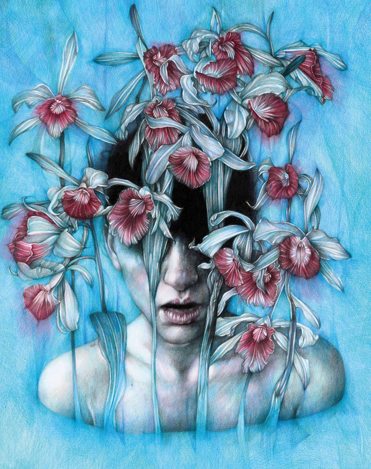 Marco Mazzoni, Regret, colored pencils on paper, 48 x 38cm © Marco Mazzoni.
