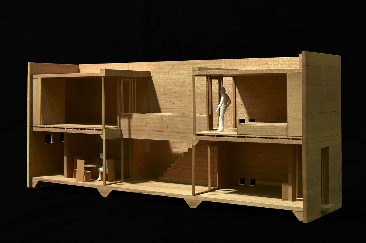 Model of Row House in Sumiyoshi (Osaka) © Tadao Ando.