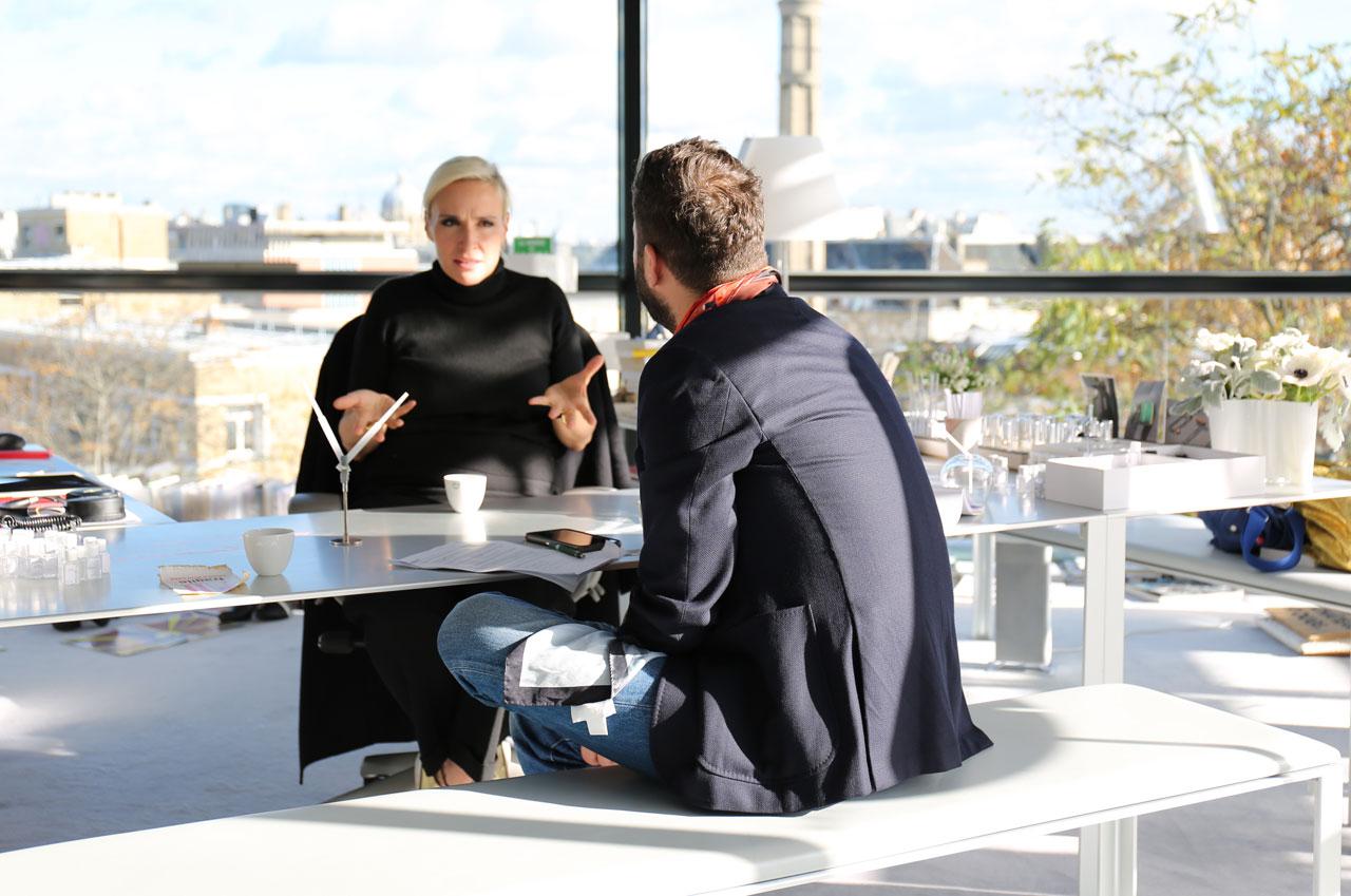 Costas Voyatzis and Mathilde Laurent in conversation. Photo byMohéli Rinaldi for Yatzer.