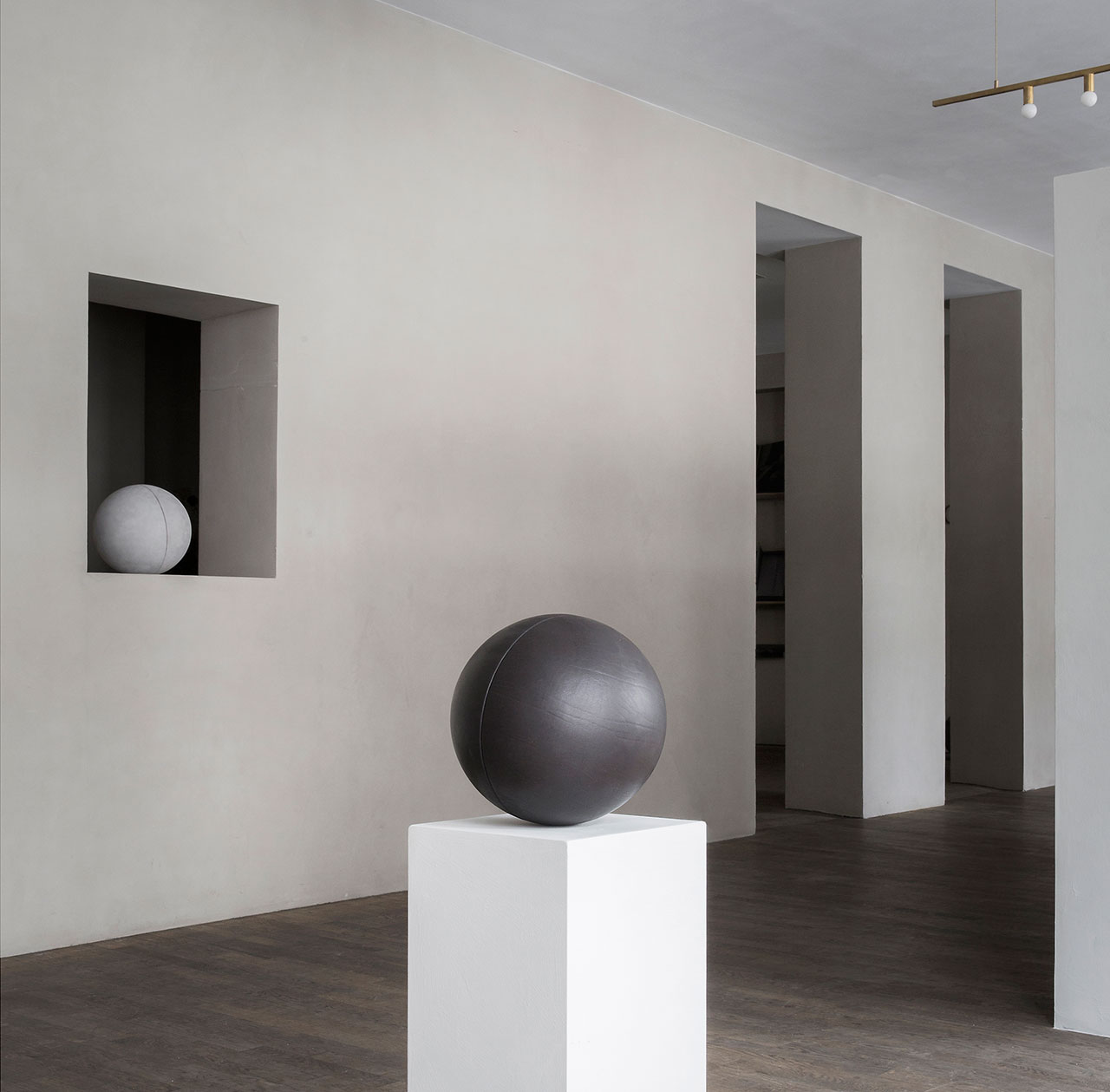 CLOSE CONTACT installation view © Norm Architects, Kinfolk & Sorensen Leather.
