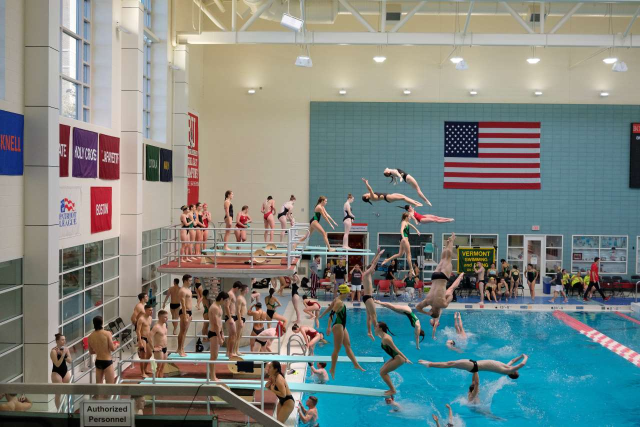 Pelle Cass, Dive Meet, Boston University from 'Crowded Field Series', 2017, Boston. © Pelle Cass.