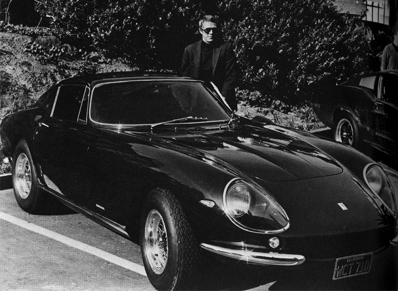 Ferrari 275 GTB 4 by Scaglietti with Steve McQueen, 1967. Photo Courtesy of RM Auctions and Ferrari.