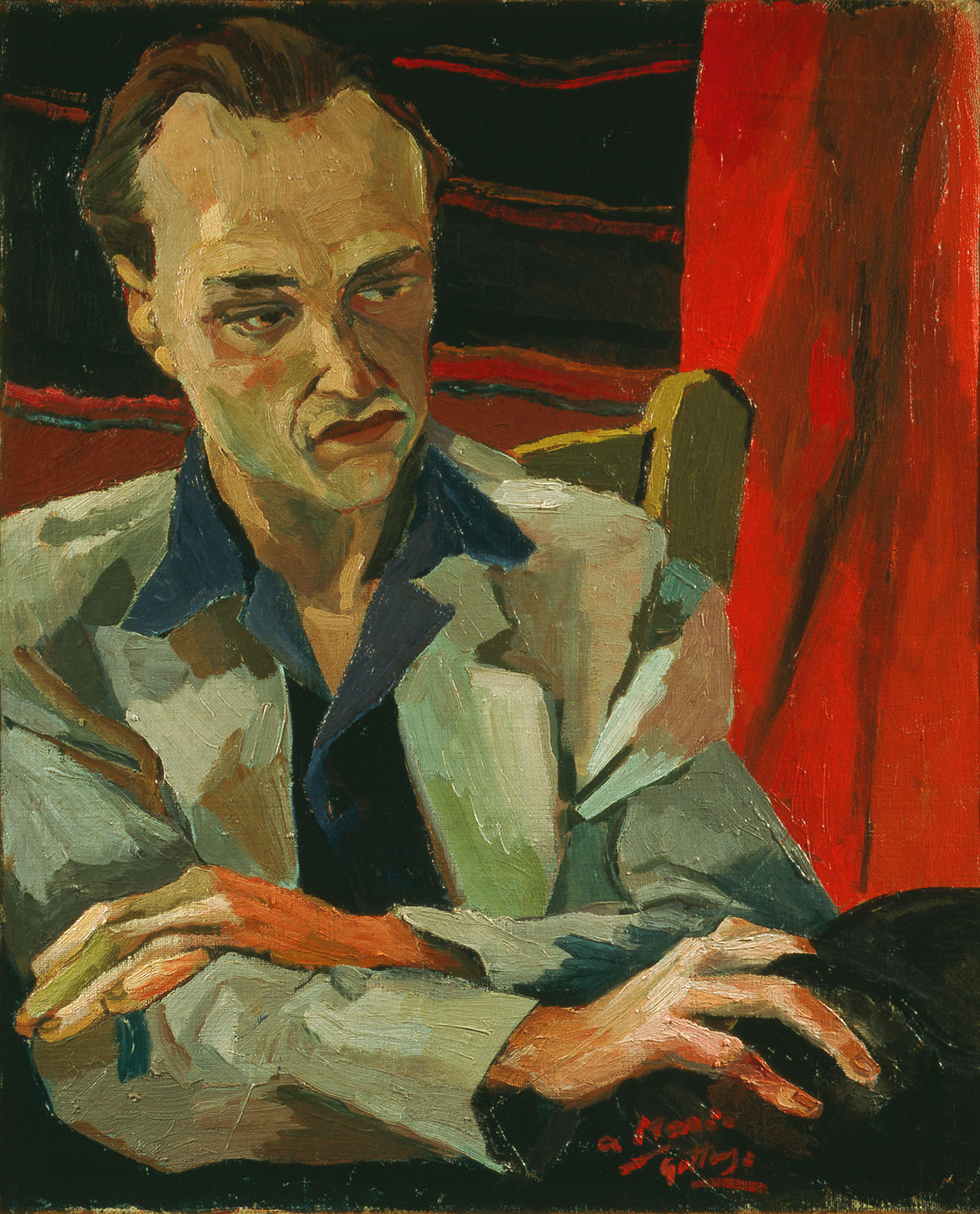 Renato Guttuso, Ritratto di Mario Alicata, 1940 Oil on canvas, 55 x 45 cm. Iannaccone collection © Renato Guttuso by SIAE 2018.