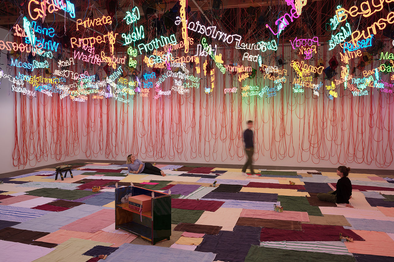 Jason Rhoades, My Madinah. In pursuit of my ermitage..., 2004. Mixed media. Dimensions variable. Installation view, 'Jason Rhoades. Installations, 1994 – 2006'. Hauser & Wirth Los Angeles, 2017 © The Estate of Jason Rhoades. Courtesy the estate, Hauser & Wirth and David Zwirner. Photo by Fredrik Nilsen.