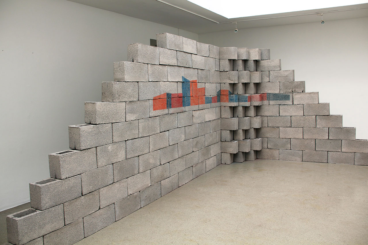 Ceboruco Volcano. Structure II 2012  Concrete blocks and coloured pencil Dimensions variable Photo © Jorge Méndez Blake.