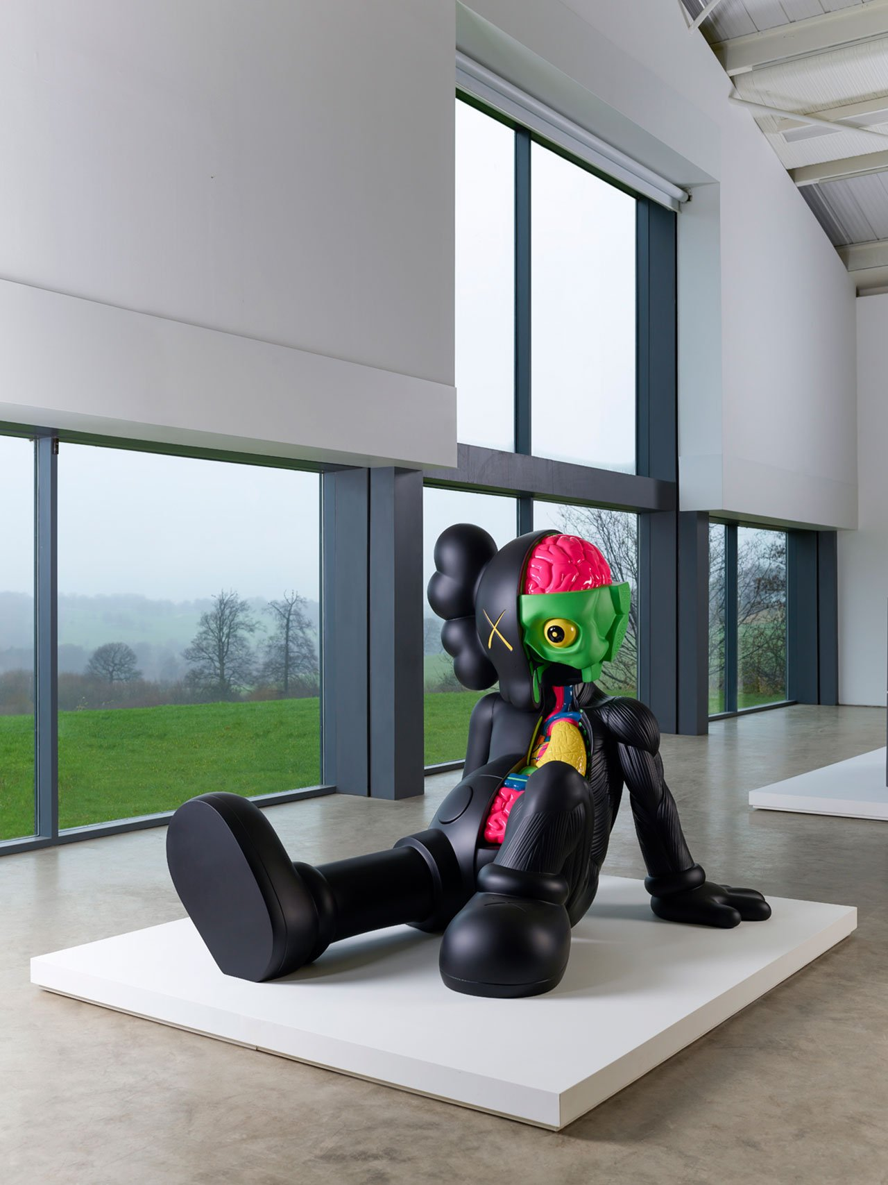 Companion (Resting Place), 2013. Courtesy the artist and YSP Painted aluminium H153.7cm x W160cm x D203.2. Photo © Jonty Wilde.