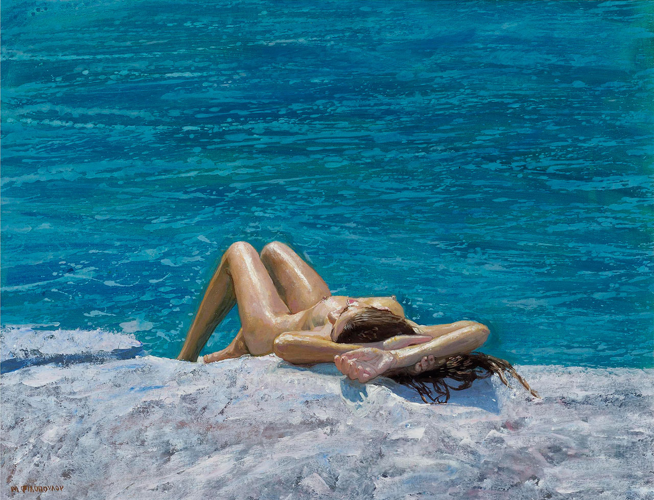 Maria Filopoulou, Nude, 2009. Oil on canvas, 60 x 98cm.