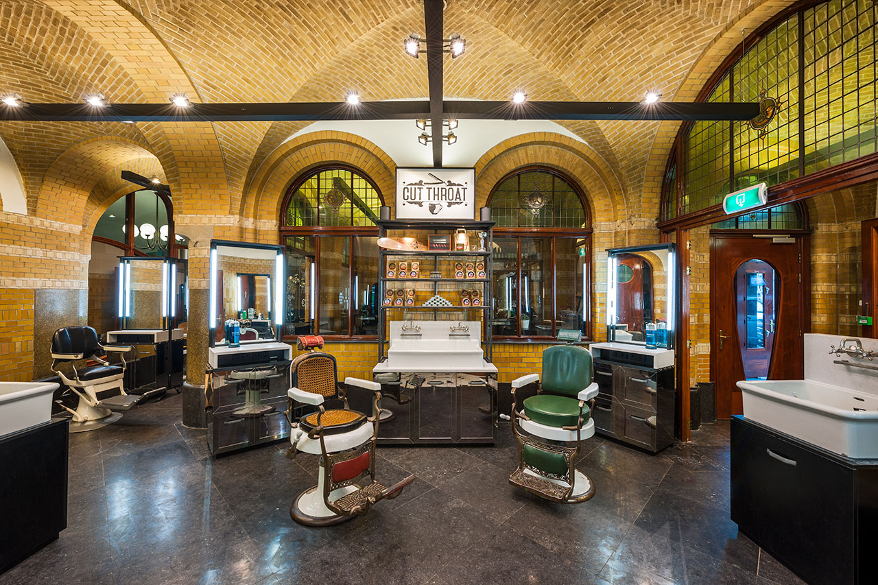 Cut Throat Barber & Coffee Amsterdam. Interior by TANK, Photography by Teo Krijgsman.