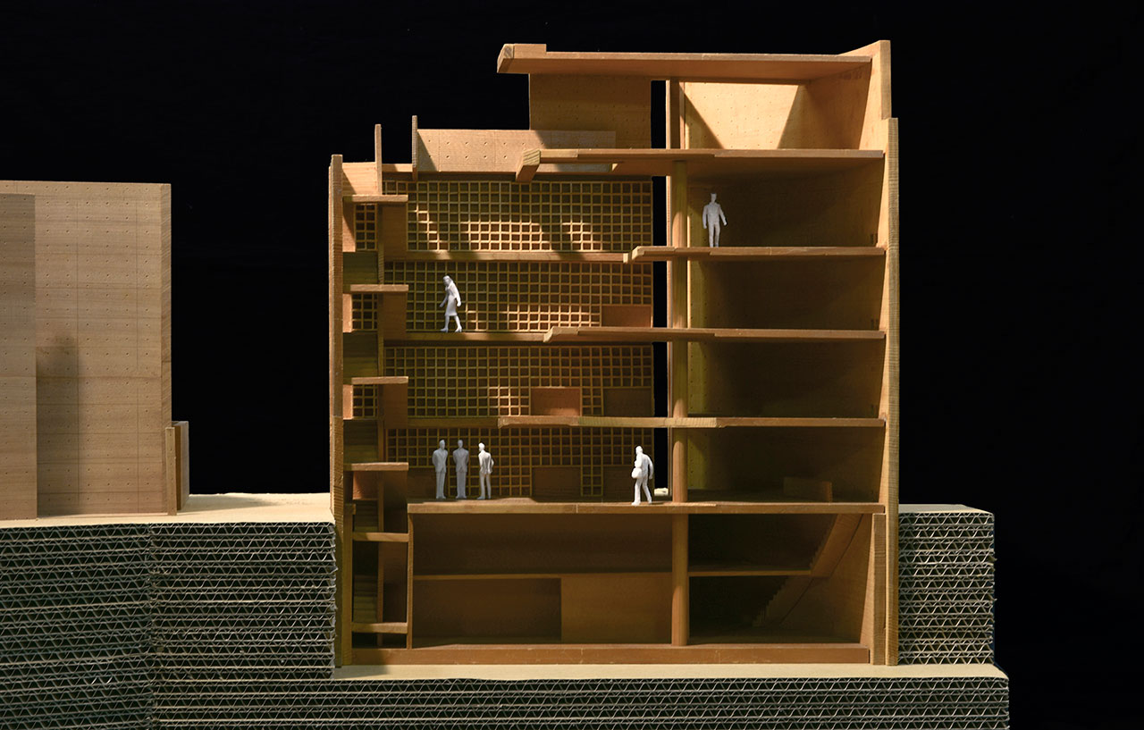 Model of Atelier in Oyodo II (Osaka) © Tadao Ando.