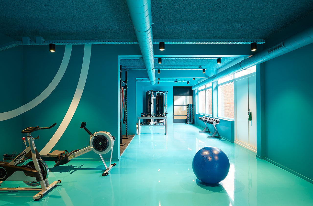 The Student Hotel Amsterdam The Hague. The gym, photo © Kasia Gatkowska x …,staat.