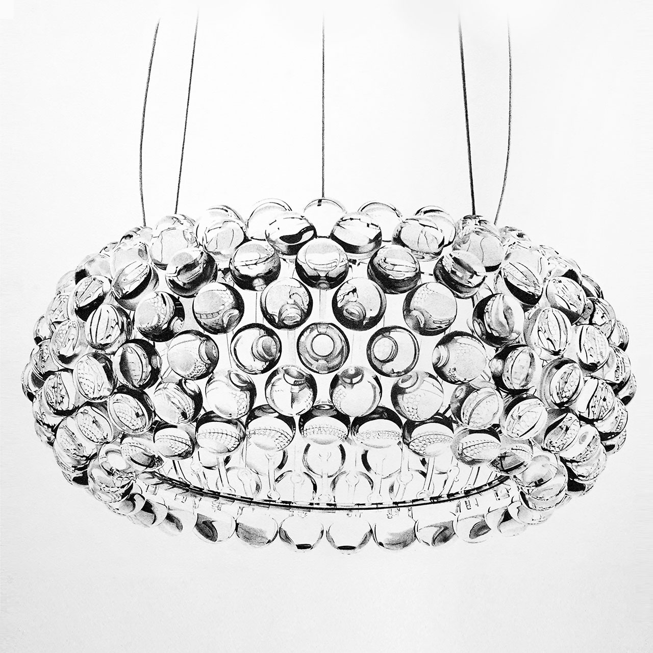 Alessandro Paglia, CABOCHE LAMP (Designed by Patricia Urquiola and Eliana Gerotto for FOSCARINI), 75 x 75 cm unframed.
