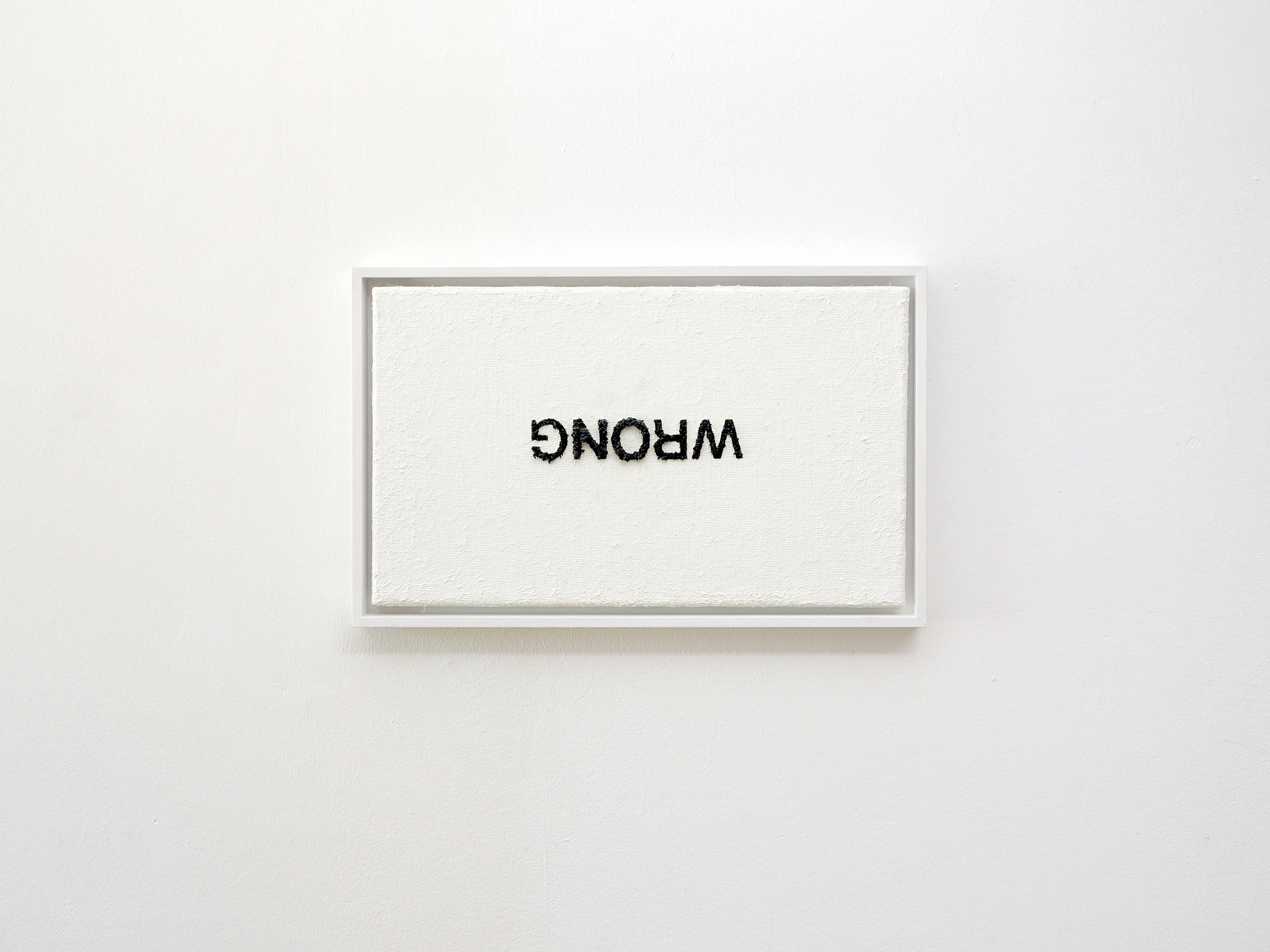 Anatol Knotek, no, 30 cm x 50 cm, acrylic on canvas (framed) © 2014.
