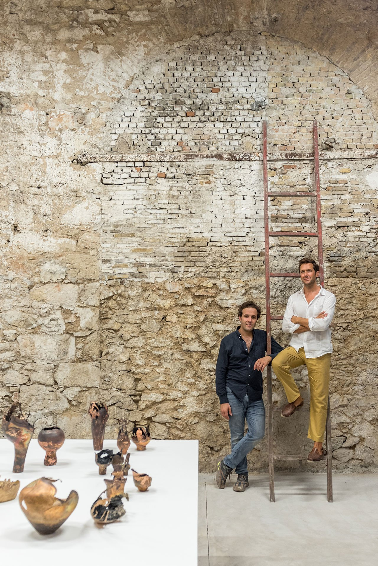 Carwan gallery founders, Nicolas Bellavance-Lecompte (right) and Quentin Moyse (left). Photo by Giorgos Sfakianakis.