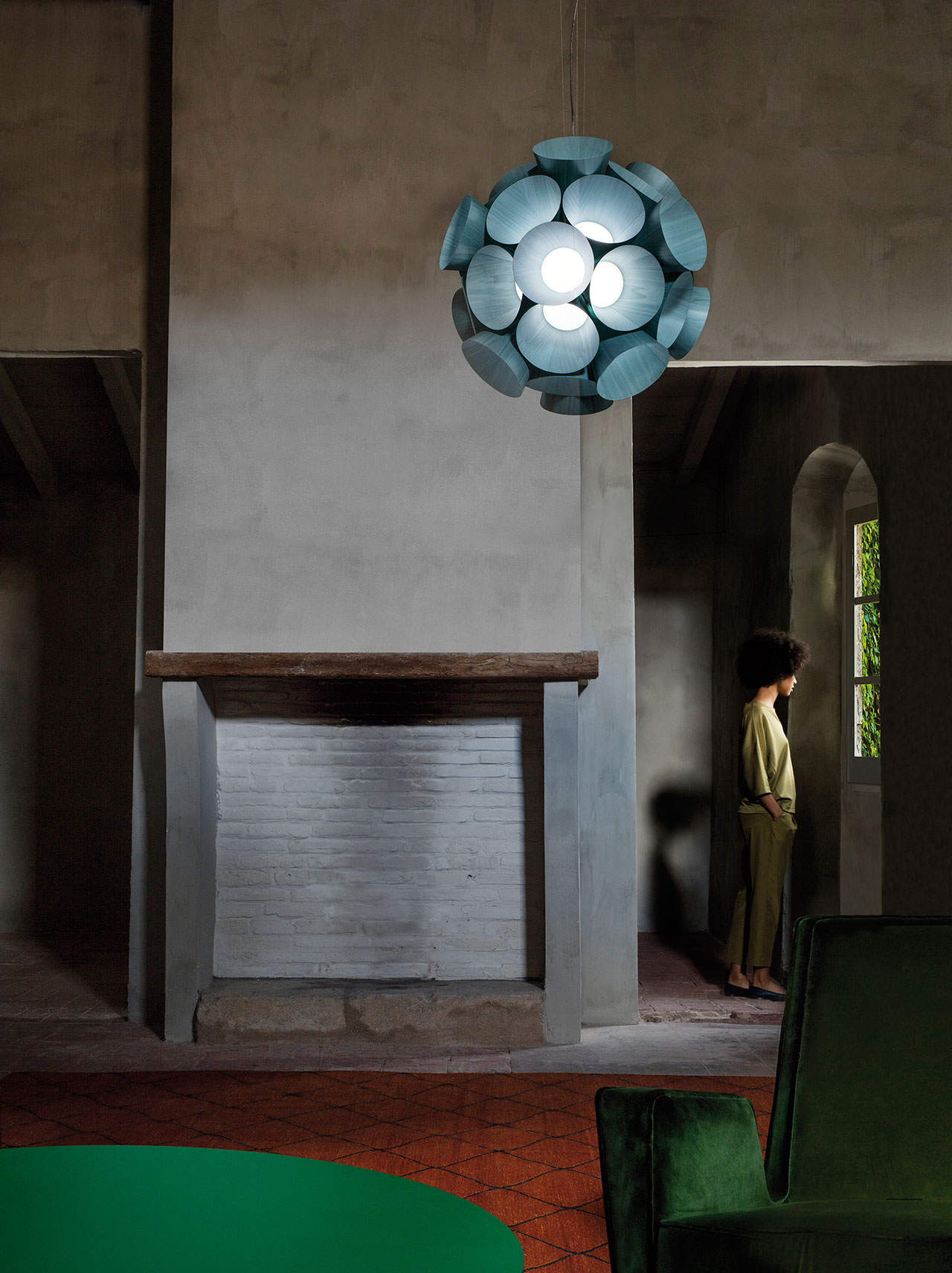 Dandelion pendant lamp by Burkhard Dämmer, from the Palacio de Casavells photo shoot. Photo by KlunderBie Studio.