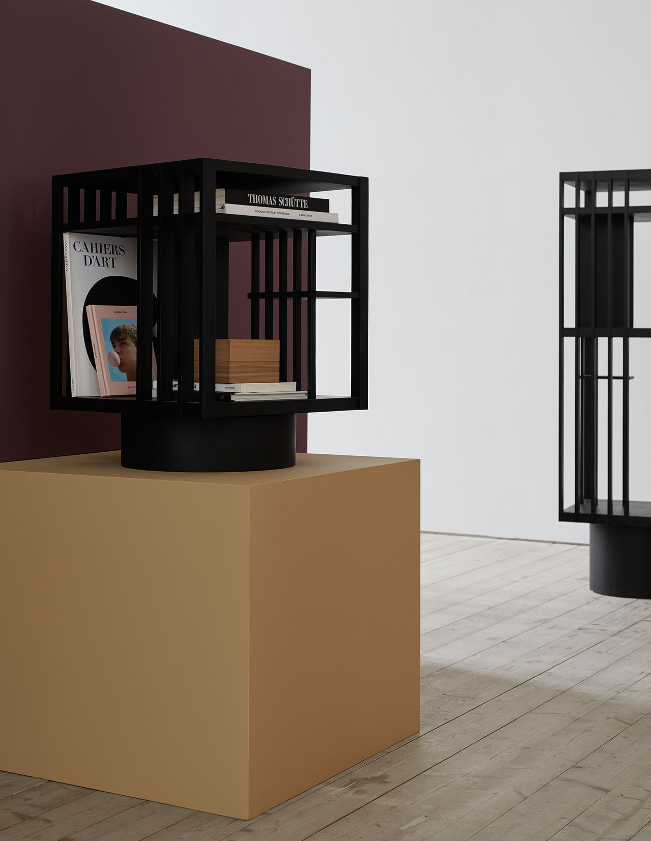 Book stand, Revolving Bookcases, Folkform. Photo by Kristofer Johnsson.