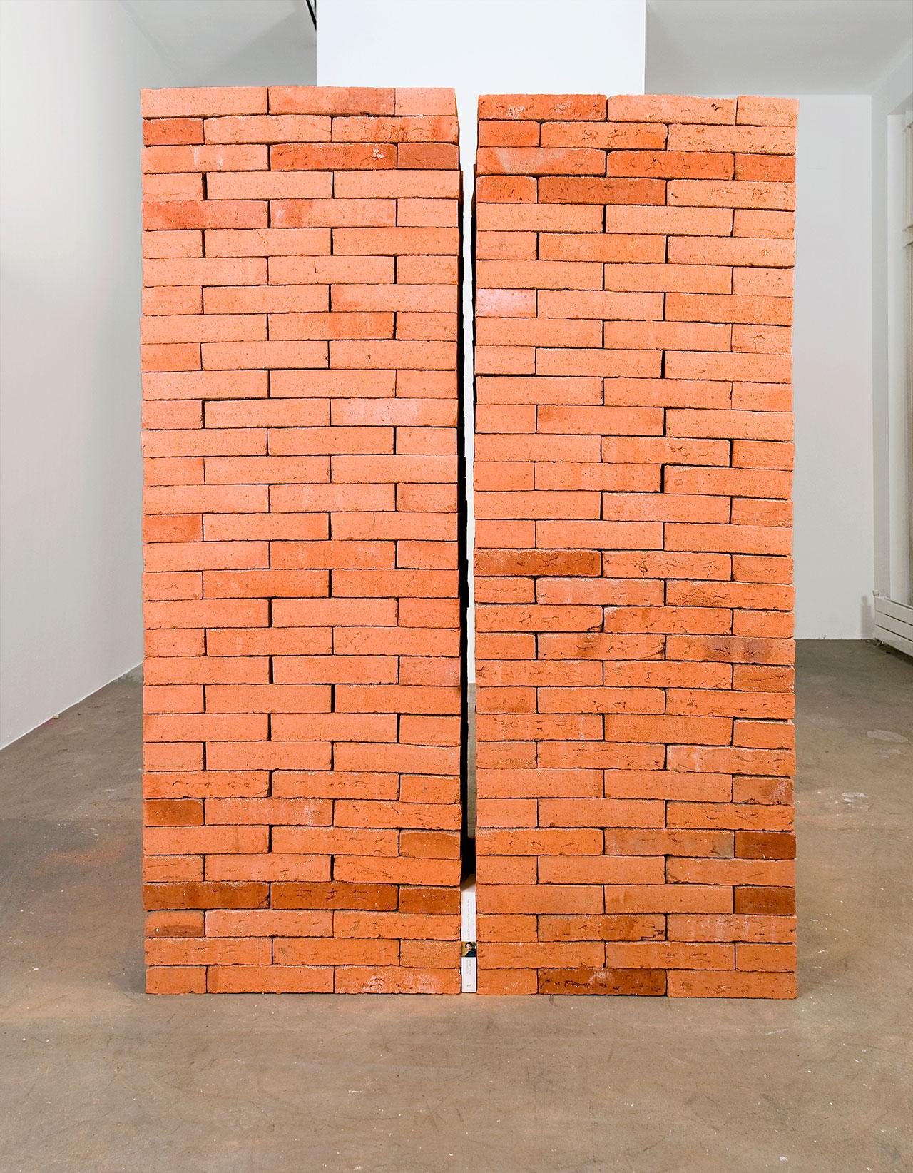Du fond d'un naufrage 2011 Bricks, edition of 'Poésies et autres textes' by Stéphane Mallarmé 161 x 120 x 106 cm Photo © Jorge Méndez Blake.