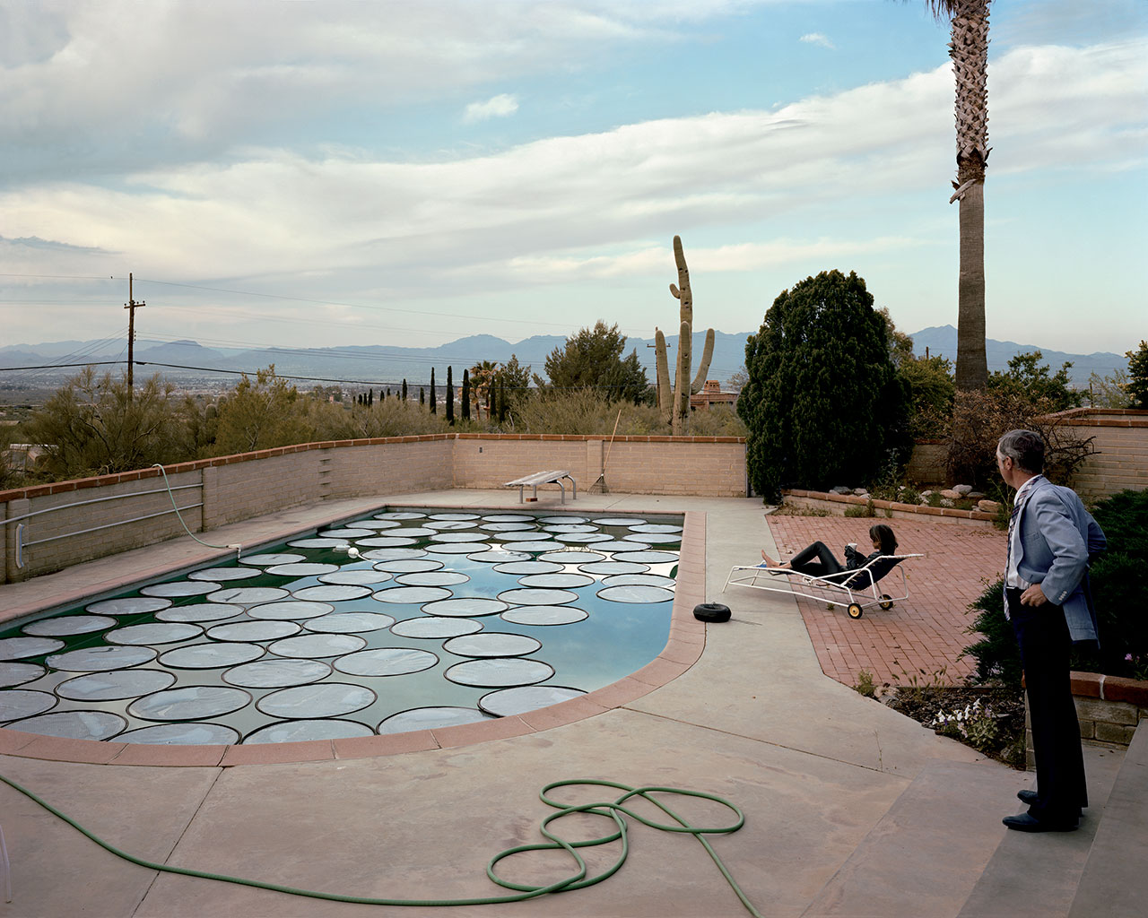 Joel Sternfeld, 'Solar Pool Petals, Tucson, Arizona, April 1979', 1979 (printed 2010). Digital c-print, Edition of 10 + 2 AP, 106.7 x 133.3 cm / Paper 122 x 148.6 cm / Framed 125.9 x 153 x 5.7 cm. Courtesy of the artist and Luhring Augustine, New York.