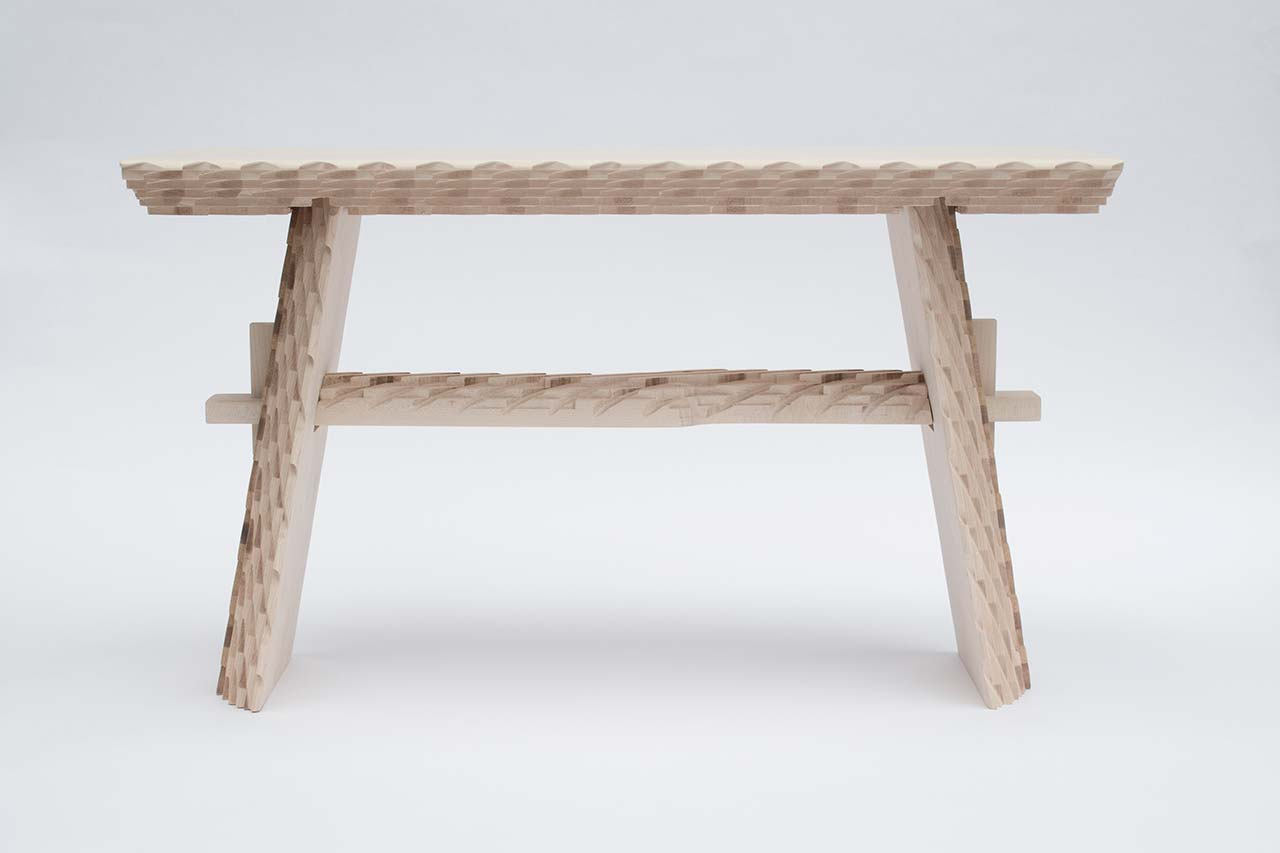 Mark Laban, rustic stool from Digital Daiku collection.