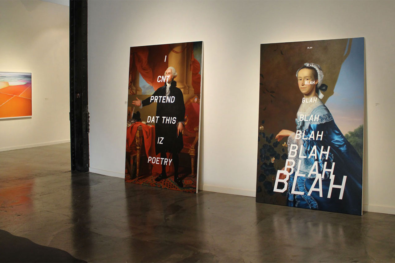 Shawn Huckins, Athenaeum, exhibition view. Photo courtesy Foster/White Gallery and the artist.